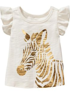Zebra-Graphic Tees for Baby