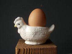 Vintage EGG Cup / Kitchen Serving / Kitchen Decor / by EUvintage Vintage Egg Cups, I Shop, Kitchen Decor, Porcelain, Eggs, Sweden, Glass, How To Make, Handmade