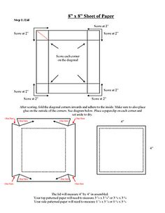 exploding box invitation & 3 tier cake pdf instructions