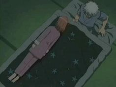 Kagura can't fall asleep so she's annoying the hell out of Gintoki.  One of my favorite episodes.
