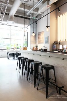 Usine in Sodermalm Stockholm is a huge industrial restaurant with three spaces: a bistro, tapas bar and a coffee bar where the people who work above the restaurant...