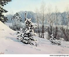 Russian Paintings Gallery - Adamow Alexis - 'Winter Tale'