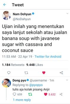 Twitter Quotes Funny, Tweet Quotes, Funny Tweets, Quotes Lucu, Jokes Quotes, Funny Quotes, Cute Memes, Funny Memes, Got7 Funny