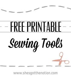 A variety of different sewing tools in printable pdf