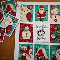 To inspire CREATIVITY, we are giving away a FREE printable file of my Vintage Holiday Gift Tags with every purchase of 3 or more Christmas Holiday Printables! This special offer extends through December 13. Happy Crafting  :)