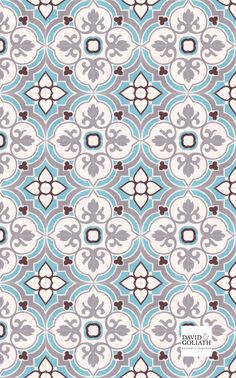 The cement tiles from David&Goliath are still made entirely by hand - just as they were 100 years ago.Our cement tiles are of very high quality, making them suitable for kitchens or bathrooms. Geometric Patterns, Tile Patterns, Pattern Art, Textures Patterns, Fabric Patterns, Pattern Design, Print Patterns, Cute Wallpaper Backgrounds, Cute Wallpapers