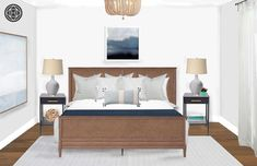 Contemporary, Coastal Bedroom Design by Havenly Interior Designer Amanda Office Furniture, Modern Furniture, Furniture Design, Coastal Bedrooms, Showcase Design, Master Bedroom, Contemporary, Interior Design, Coat Racks