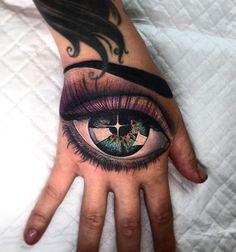 Eye hand tattoo by Miryam Lumpini.  http://tattooideas247.com/eye-hand-tattoo/