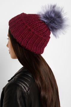 Eugenia Kim Rain faux fur-trimmed wool beanie NET-A-PORTER.COM