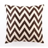 in NAVY   Found it at AllModern - Zig Zag Embroidered Linen Throw Pillow