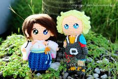 Tidus Yuna Couple Inspired from Final Fantasy X FF10 Chibi