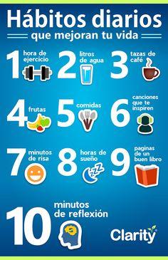 10 Hábitos diarios que mejoran tu vida de una manera positiva y saludable.