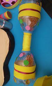 Music Instruments Diy, Instrument Craft, Homemade Musical Instruments, Craft Activities For Kids, Preschool Crafts, Crafts For Kids, Cardboard Guitar, Diy Sensory Toys, Carnival Crafts