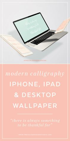 Get your free modern calligraphy device wallpaper here!