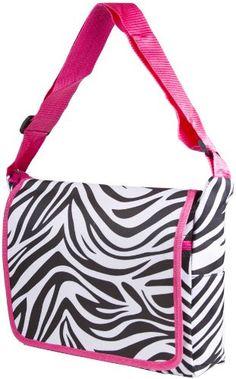 Zebra Print Messenger Bag
