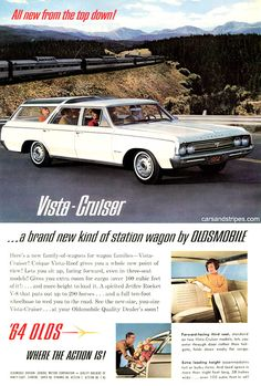 1964 Oldsmobile Vista Cruiser - Carries more than 100 cubic feet of cargo - Original Ad