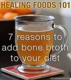 # eatnakednowcom reasons to add bone broth to your daily diet healing foods 101 Bone Broth. 7 reasons to add bone broth to your diet Health And Nutrition, Health And Wellness, Health Foods, Health Benefits, Thyroid Health, Gut Health, Bone Broth Benefits, Whole Food Recipes, Healthy Recipes