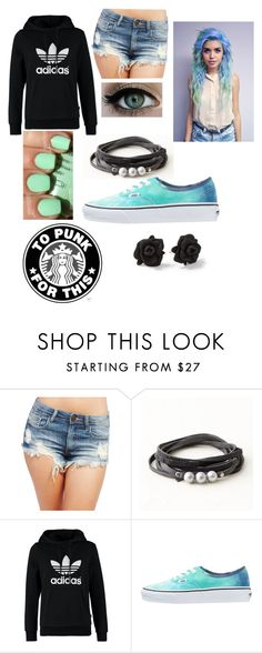 """Do you got room for one more troubled soul?"" by llmargaretll ❤ liked on Polyvore featuring Wet Seal, adidas Originals, claire's, Vans, Marc by Marc Jacobs, women's clothing, women's fashion, women, female and woman"