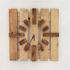 Handmade pallet wood clock 20 x 20