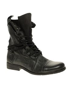 River Island Multi-Eyelet Military Boot