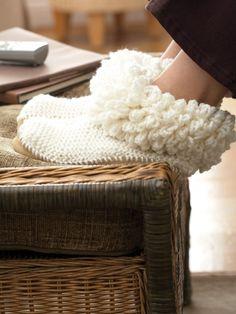 Level 20 - Loopy Cuffed Boot Slipper | Yarn | Free Knitting Patterns | Crochet Patterns | Yarnspirations