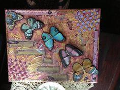 mixed media/ butterflies