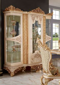Luxury Dining Room, China Cabinet, Buffet, Furniture, Mirror, Home Decor, Decoration Home, Chinese Cabinet, Room Decor