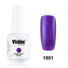 Vishine Gelpolish Manicure DIY Gel Nail Polish Lacquer Shiny Color UV LED Soak Off Long-lasting Glitter Blueviolet (1881) >>> You can find out more details at the link of the image.