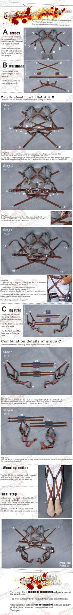 Shingeki no Kyojin Attack on Titan Scouting Legion Survey corps Cosplay Costume Eren Jaeger Levi RivailleBelt System-in Costumes from Apparel & Accessories on Aliexpress.com | Alibaba Group