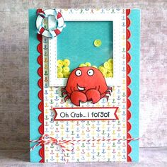 Oh Crab I Forgot card by Debby Yates - Paper Smooches - Chubby Chum Pals