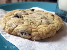 Pennies & Pancakes: Bakery-Style Chocolate Chip Cookies ($0.19 each) - Just pulled the first dozen from the oven. Very tasty!  I love it when they're just slightly crisp at the edge, and soft in the middle.  These are exactly that!