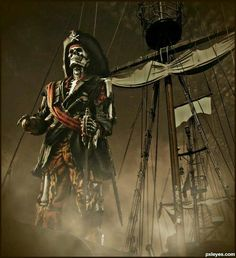 Ghost pirate ship