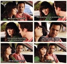 """Why do you have to say my name like that? 'Jess.'"" {gif} #newgirl"
