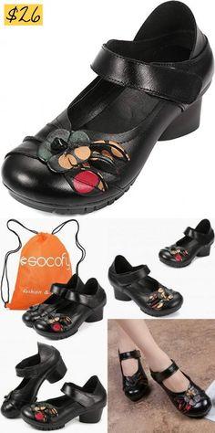 Women Shoe Flats Sandals Retro Vintage Frauen Schuh Flache Sandalen Retro  Vintage c459ed95e4
