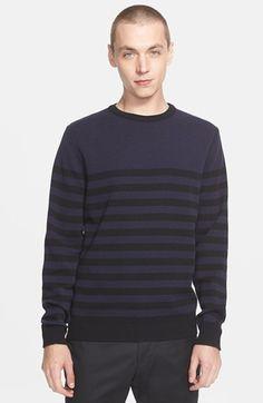 AMI Alexandre Mattiussi Stripe Wool Sweater | Nordstrom