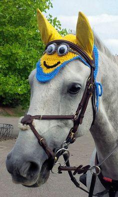 Minion Horse Fly Veil Ear Net Bonnet by CreativeSeaHorse on Etsy