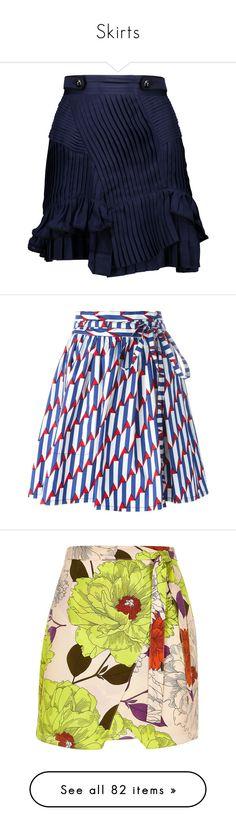"""Skirts"" by lorika-borika on Polyvore featuring skirts, mini skirts, midnight blue, frilly skirts, blue mini skirt, blue skirt, frilled skirt, silk chiffon skirt, bottoms и saias"