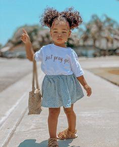 Cute Mixed Babies, Cute Black Babies, Cute Little Baby, Cute Kids Fashion, Baby Girl Fashion, Mix Baby Girl, Cute Little Girls Outfits, Little Girl Swag, Toddler Girl Outfits