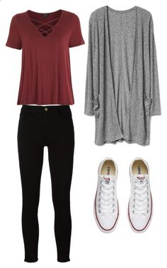 Untitled #56 by agatlin-1 on Polyvore featuring Topshop, Frame and Converse