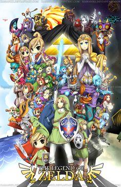 The Legend of Zelda by =Kamaniki
