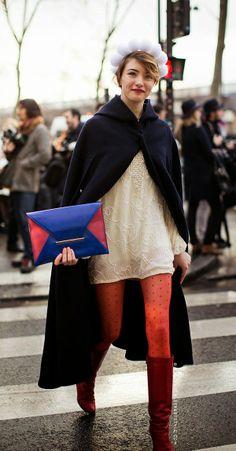 Dica fashion: Meia-calça de poá