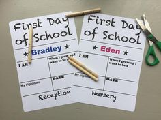 Personalised First Day of School Back to School Photo
