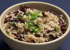 Red Beans and Rice from FoodNetwork.com- 20 minutes, easy cheap and delicious vegetarian dinner (we ate it tonight, and even my 1 1/2 year old kept asking for more).