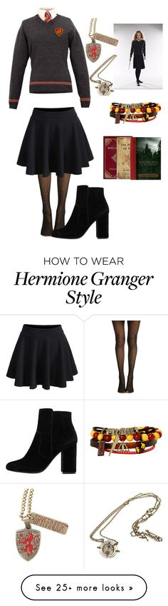 """""""Treat or spell ( Hermione Granger Costume)"""" by alex93love on Polyvore featuring WithChic, Warner Bros., Theory, Levi's and MANGO"""