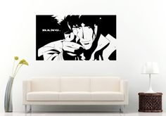 Anime Animation Boy Guy Man Pointing Finger Gun Poster Wall Decal Vinyl Sticker Mural Room Decor L806