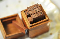little wooden box for little wooden stamps.
