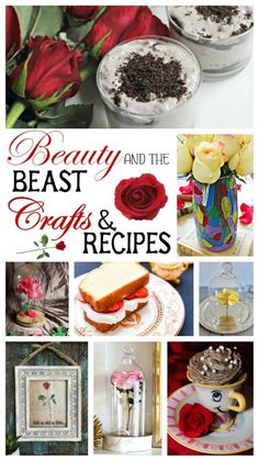 Check out these crafts and recipes celebrating Beauty and the Beast. You'll find crafts, free printables, recipes and more. Source by anallievent and the beast Beauty And The Beast Crafts, Beauty And The Beast Party, Disney Beauty And The Beast, Beauty Beast, Diy Beauty And The Beast Decorations, Oreo Mousse, Disney Dinner, Disney Food, Disney Recipes