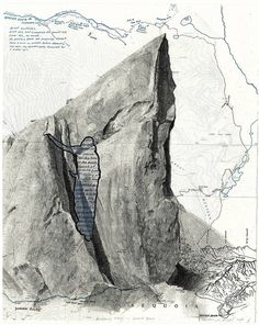 Beckoning Place - Summit Block lithograph