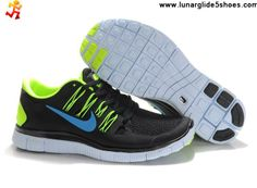big sale a628c 678af Buy Latest Listing Mens Nike Free 5.0 Black Blue Volt Shoes Sports Shoes  Shop Best Nike