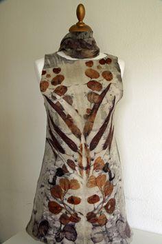 made by Brita Stein  hand felted and dyed dress  http://brita-stein.blogspot.ch/